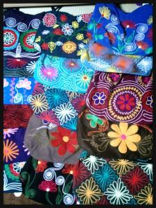 刺繍カバン